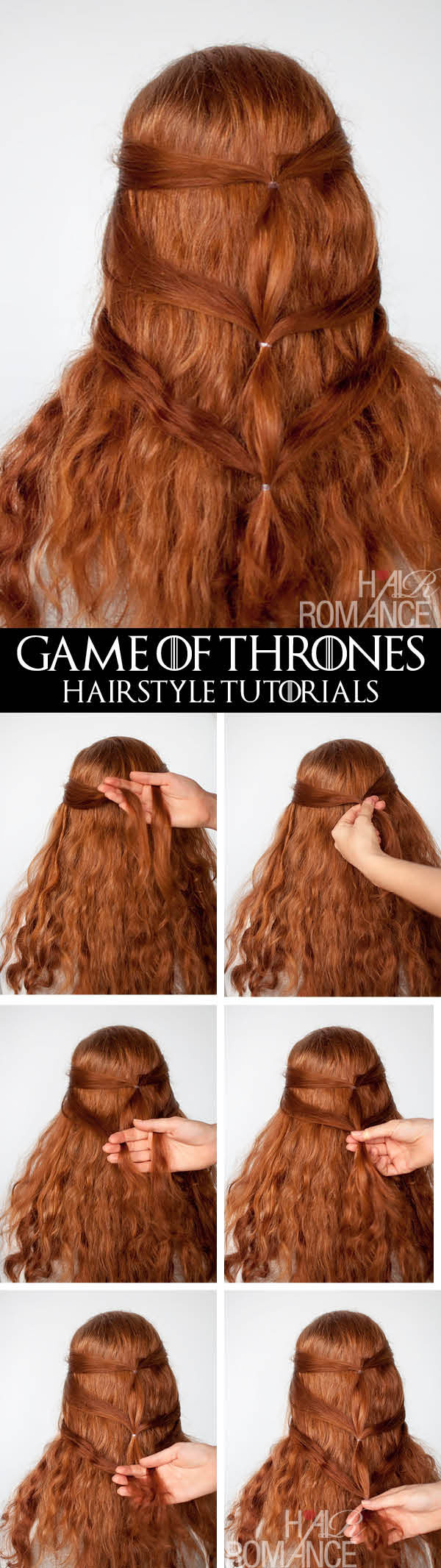 Hair Romance - Game of Thrones - hairstyle tutorials - Daenerys Targaryen hairstyle