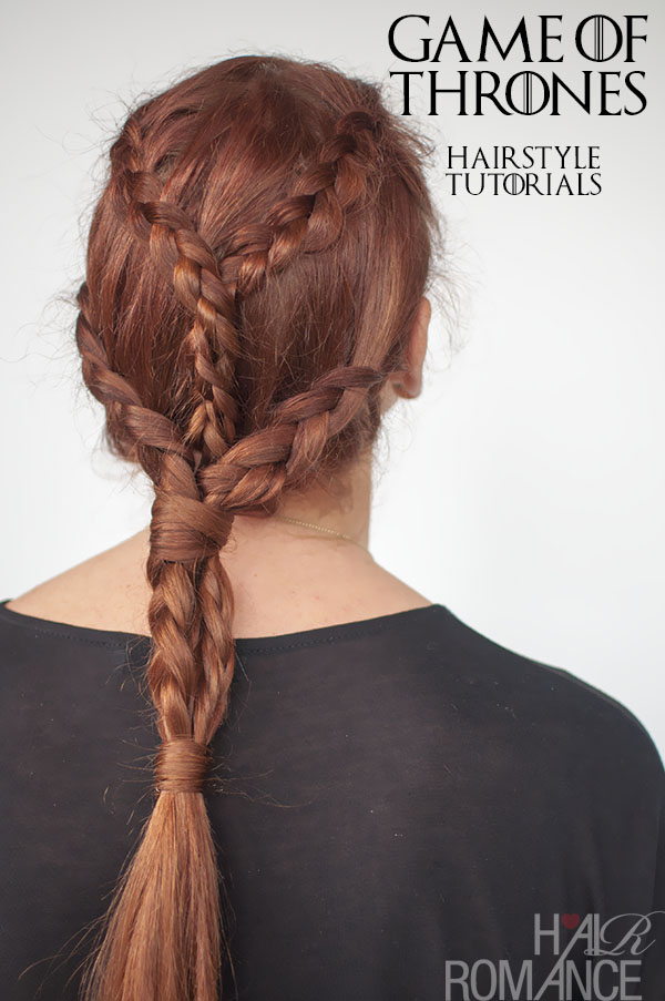 Hair Romance - Game of Thrones hairstyle tutorials - Khaleesi Daenarys braids tutorial