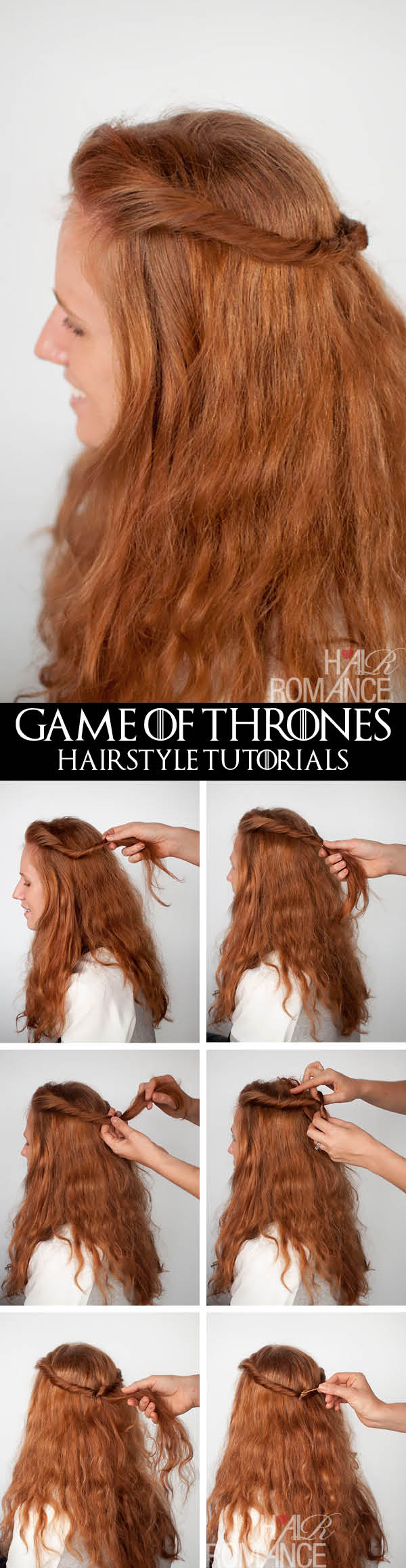 Hair Romance - Game of Thrones hairstyle tutorials - Margaery Tyrell twists
