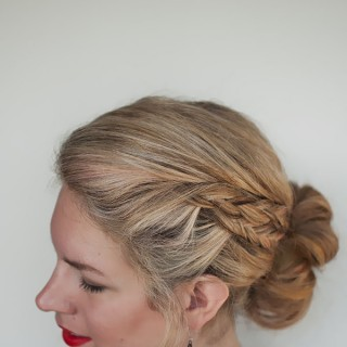 Hair Romance - double braid bun hairstyle tutorial