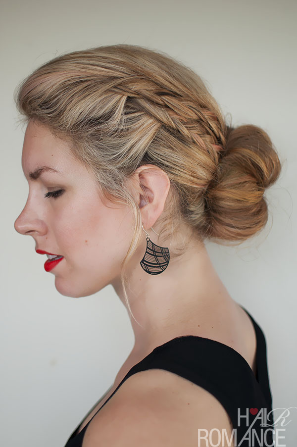 Hair Romance - double braid bun hairstyle
