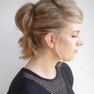 Hair Romance - pinned up ponytail