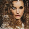 Big curls on Barbara Palvin - love big hair!