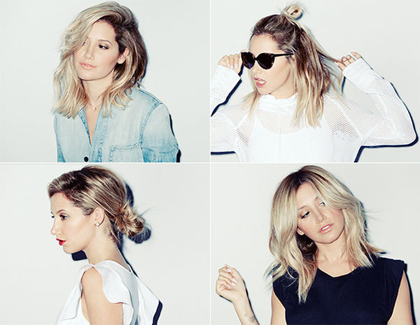 Ashley Tisdale - 4 ways to style the lob
