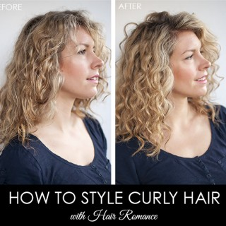 Hair Romance - Before and after - curly hair style