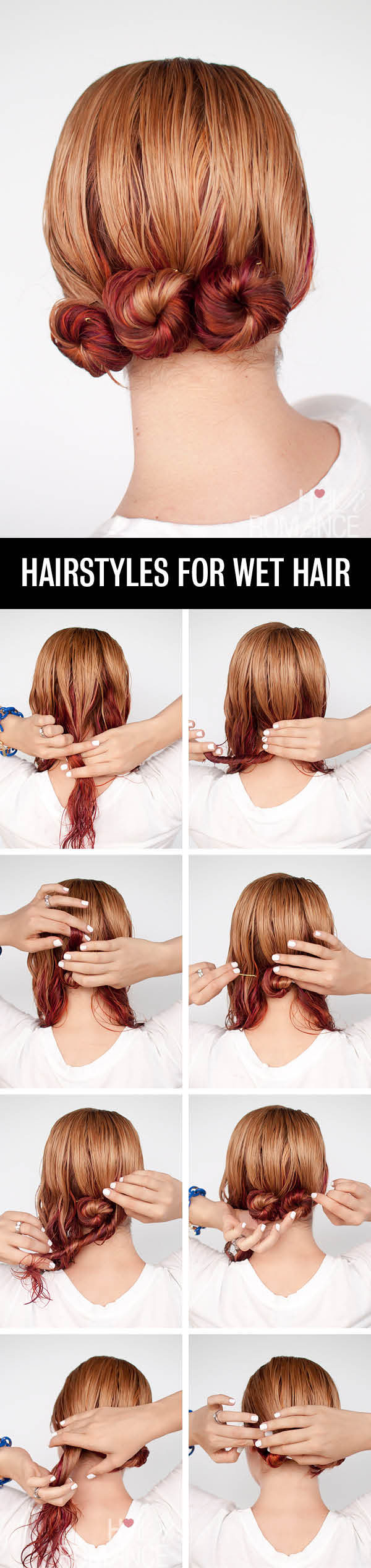 Get ready fast with 7 easy hairstyle tutorials for wet hair - Hair Romance