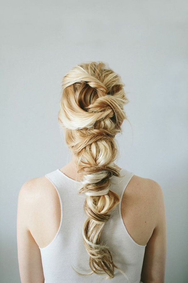 Stunning twisted braid