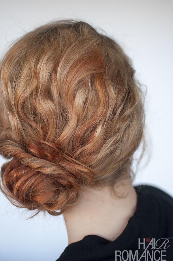 Hair Romance - curly bun twist hairstyle tutorial