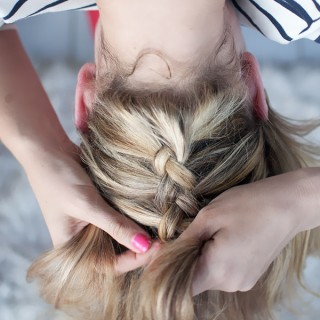 Hair Romance - upside down braid bun - how to