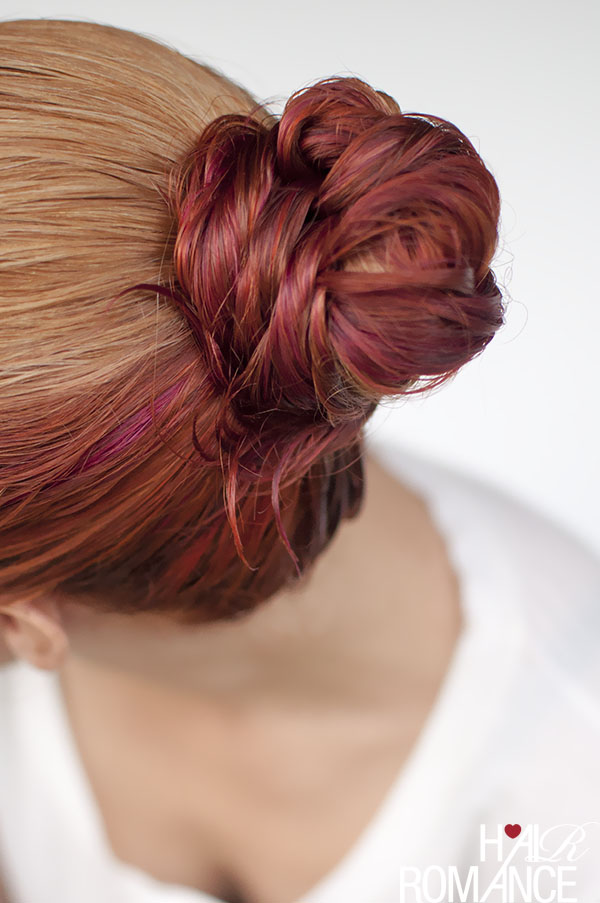Hair Romance - wet hair styles - the fishtail bun