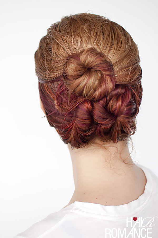 Hair Romance - wet hair styles - the loose triple bun