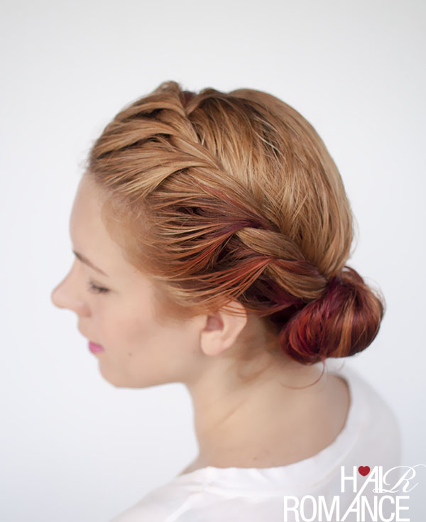 Hair Romance - wet hair styles - the side twist bun