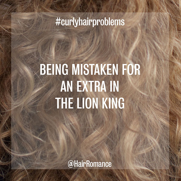 Hair Romance - curly hair problems - Lion King extra