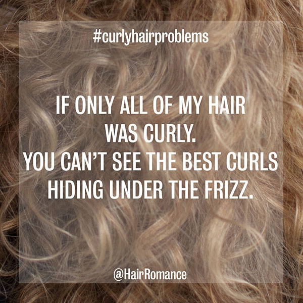 Hair Romance - curly hair problems - half curly half frizzy