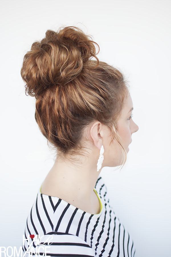 Hair Romance - curly hair tutorial - the top knot tutorial