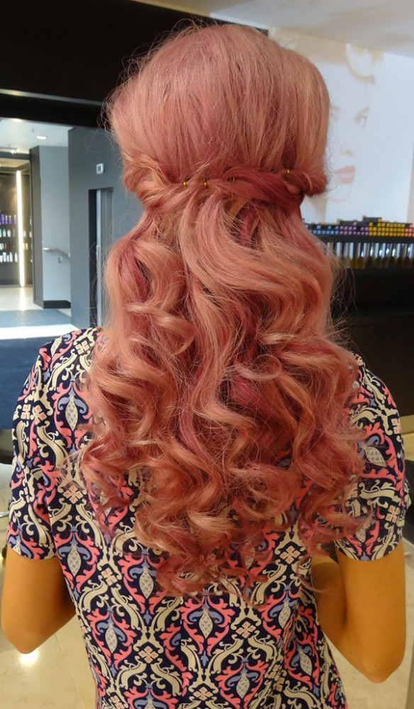 Big Hair Friday - INTHEFROW - pink curled hair