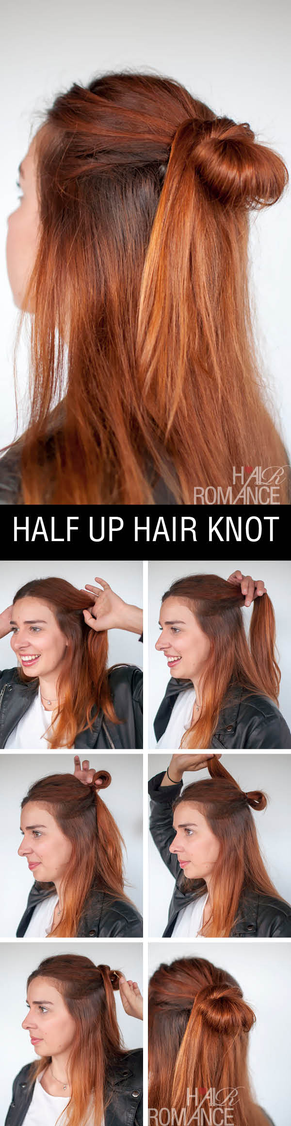 Hair Romance - 90s half up hair knot hairstyle tutorial