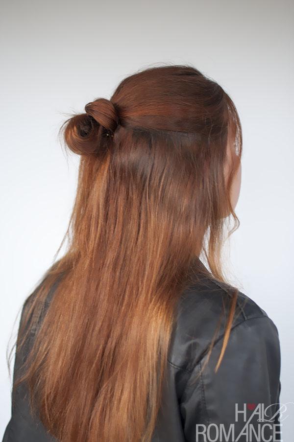 Hair Romance - 90s half up knot hair tutorial
