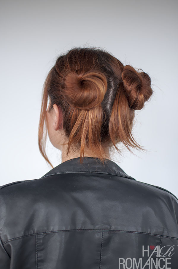 Hair Romance - 90s normcore hair - double bun tutorial