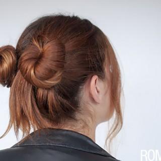 Hair Romance - 90s normcore hair - double buns tutorial