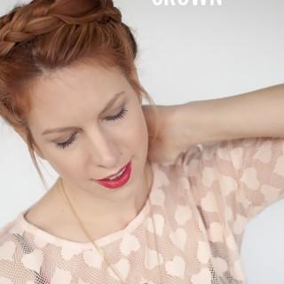 Hair Romance - easy faux braided crown hairstyle tutorial