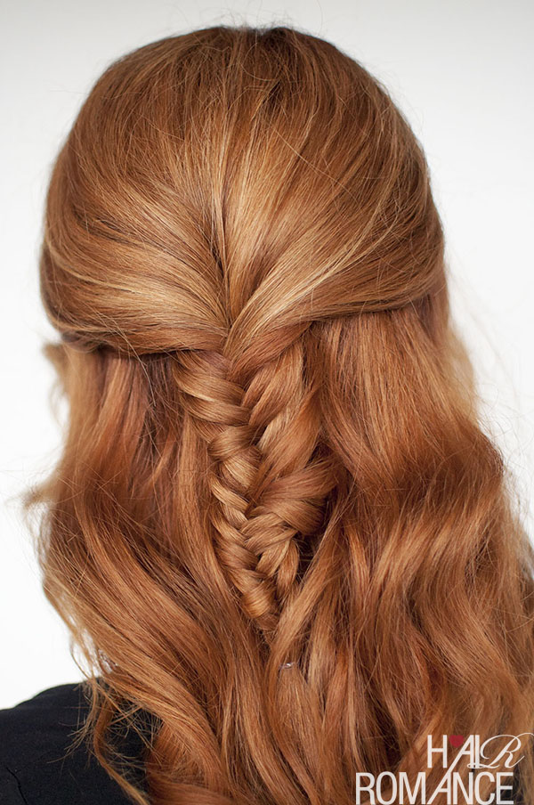 Hair Romance - half up fishtail braid