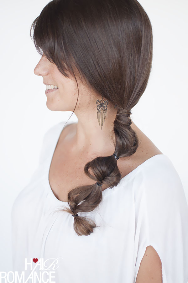 Twisted fishtail side braid hairstyle - click through for tutorial on Hair Romance