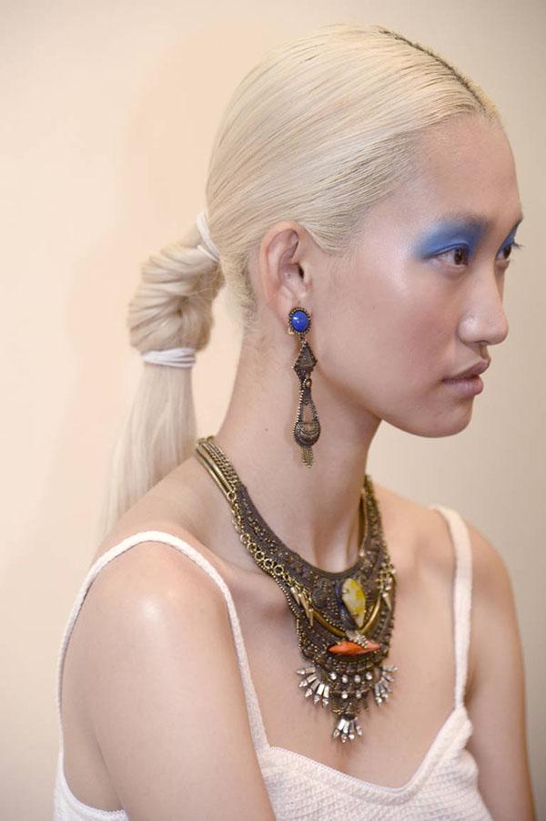 Dannijo fishtail ponytail NYFW SS15
