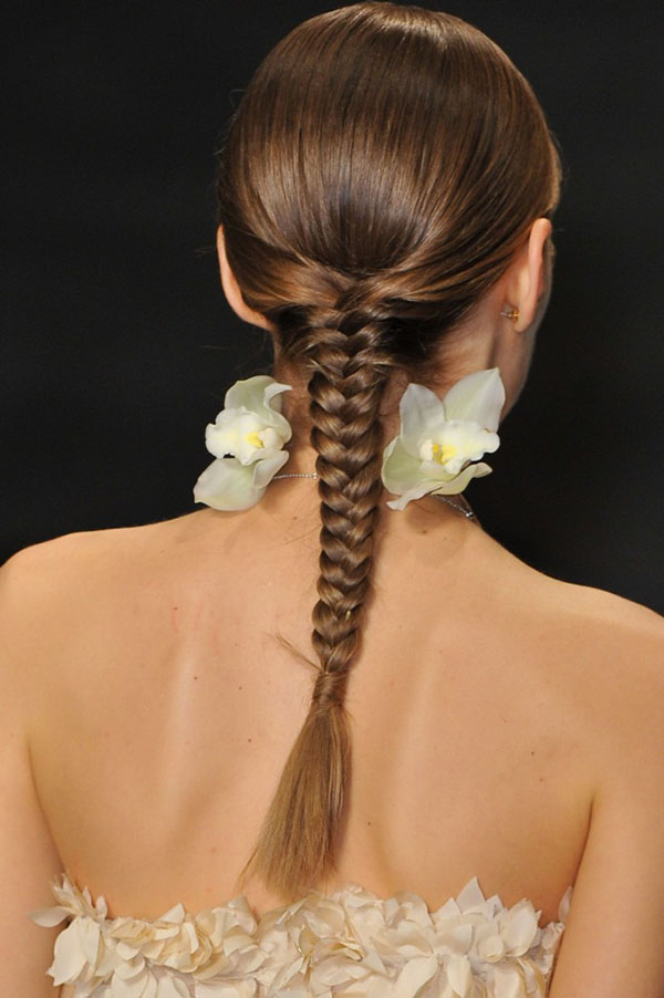 Fishtail braids at Tome NYFW SS15