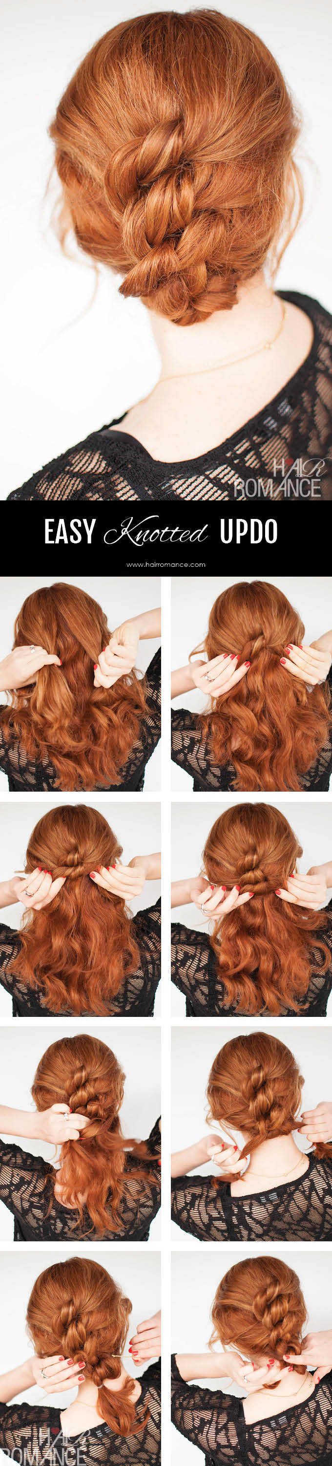 Easy Knotted Hairstyle Tutorial - Hair Romance