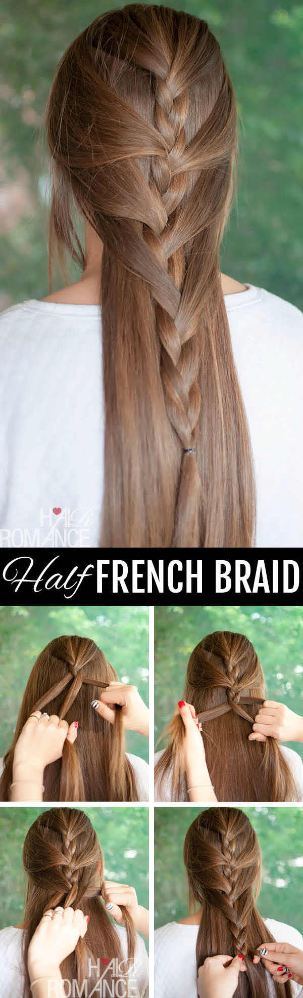 Swept away - try this sweeping half French braid tutorial ...