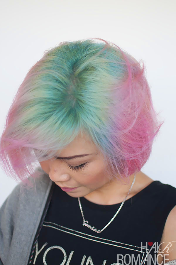 Hair Romance - Liz and her unicorn hair colour 1