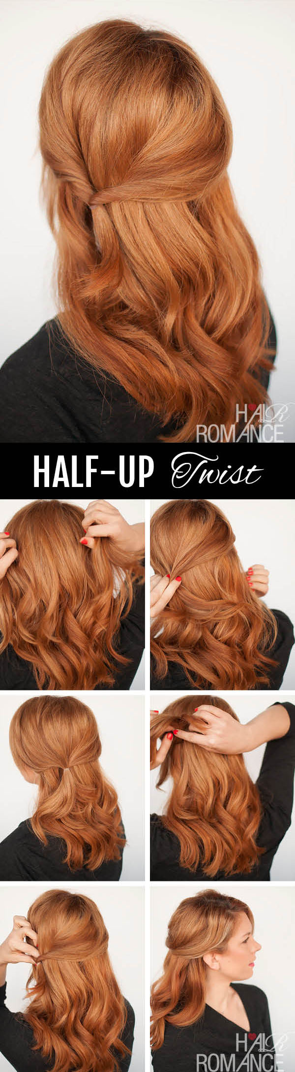 Hair Romance - half up twist hairstyle tutorial