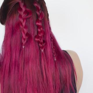 Hair Romance - uneven braids
