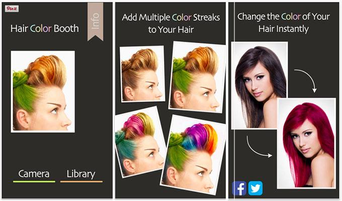 Hair Romance  Hair Colour Booth hair app