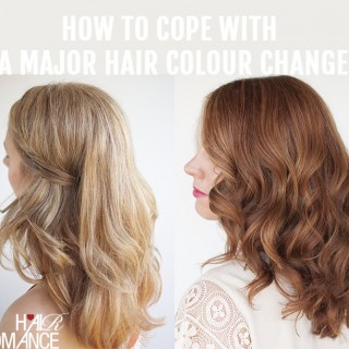 5 tips to cope with a major hair colour change