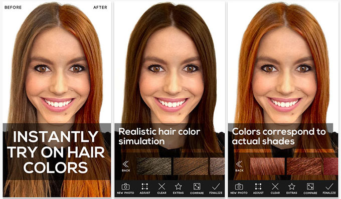 3 Fun Apps To Experiment With Your Hair Colour  Hair Romance