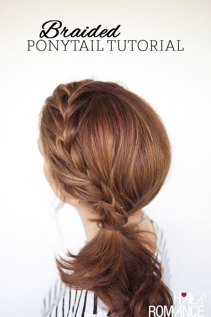 Hair Romance - braided side ponytail tutorial 2