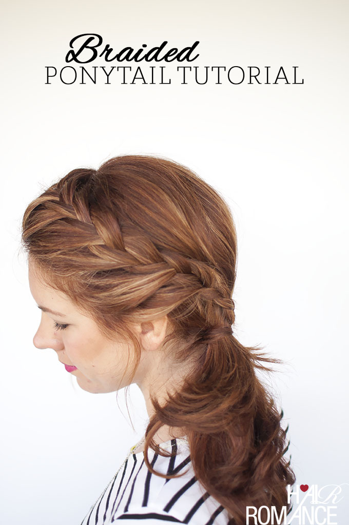 This braided ponytail is perfect simple and chic weekend hairstyle.