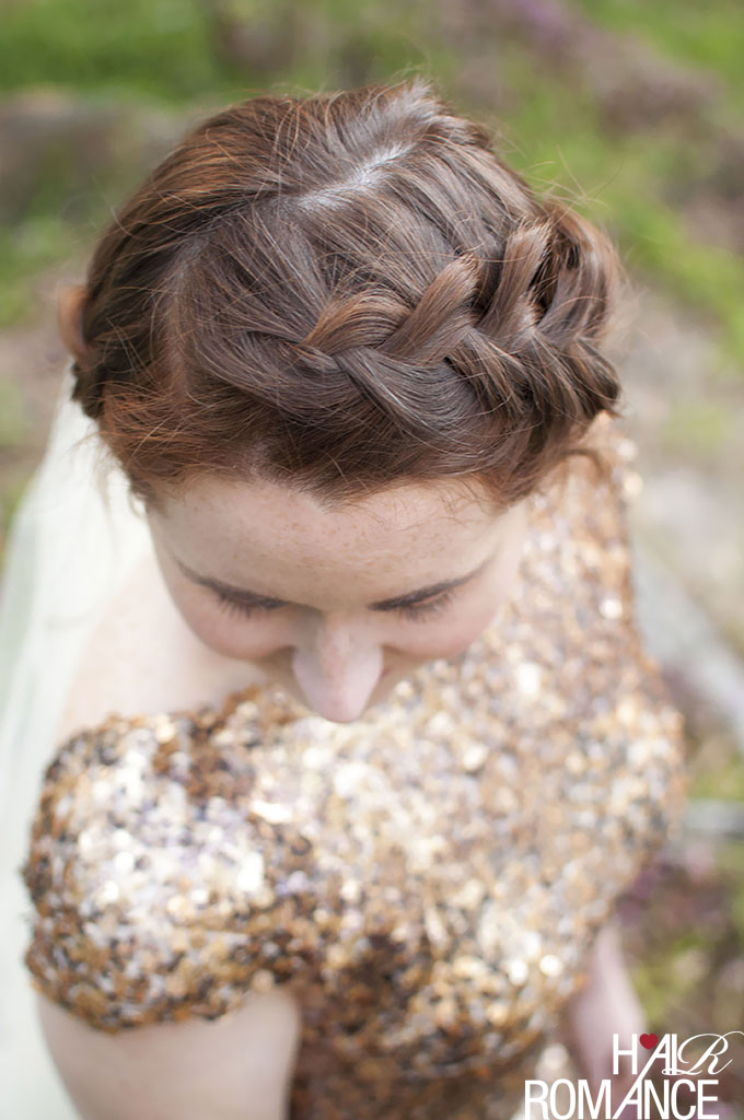 Hair Romance - DIY Bridal Beauty - braid in short hair