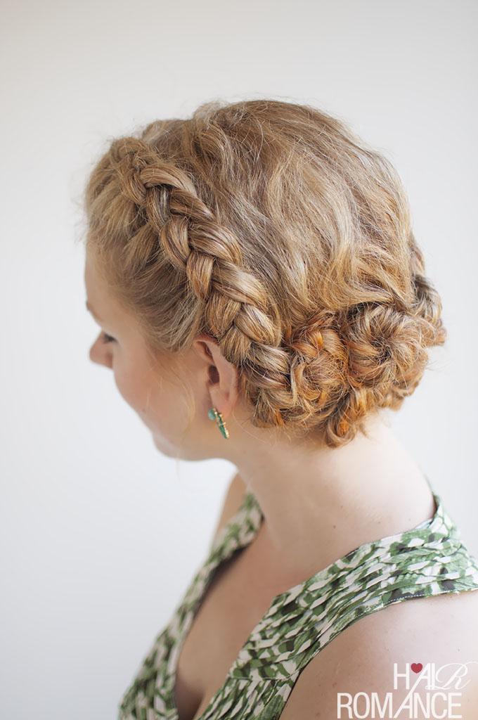 Hair Romance - Curly hair braided updo - Click through for the tutorial