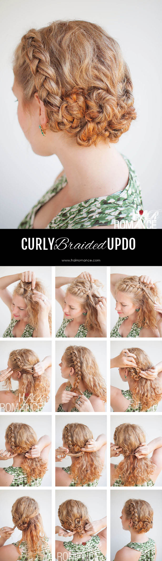 Twist and Pin braided updo for curly hair - Hair Romance