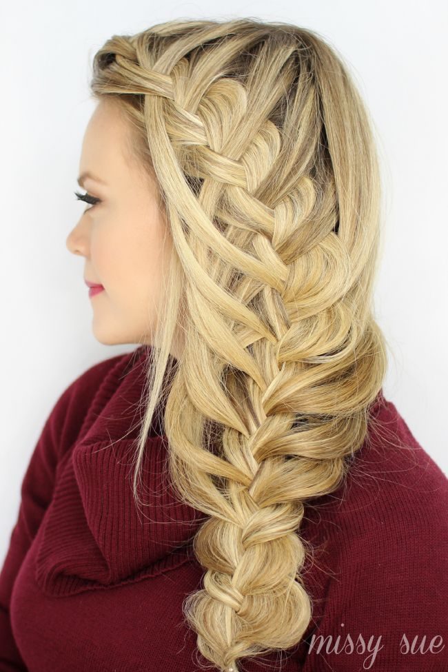 Big Hair Friday - Missy Sue waterfall braid