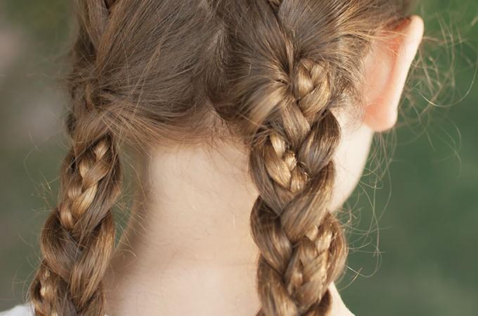 Hair Romance - Back to school hair - criss cross braids hairstyle tutorial 3