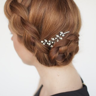 Hair Romance - Formal braided updo hairstyle tutorial feat Jennifer Behr pin