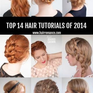 Hair Romance - the top 14 hair tutorials of 2014