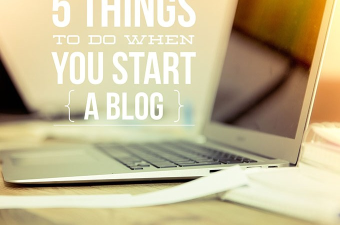 Beauty Blog School - The first 5 things to do when you start a blog