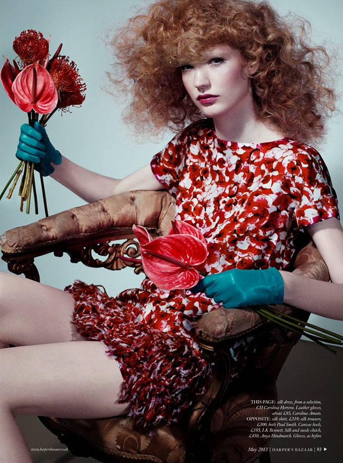Big Hair Friday - Anniek Kortleve by Catherine Servel for UK Harper's Bazaar May 2013