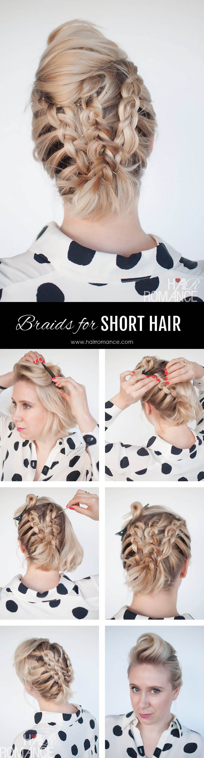 Braids for short hair - short hairstyle tutorial