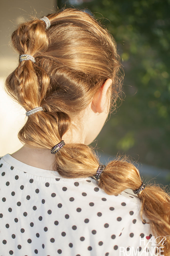 Hair Romance - School hair - the braided bubble ponytail tutorial
